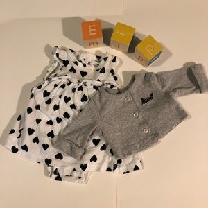 Carter's Heart Love Outfit NB